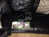 Xbox one with Kinect 2 controllers and 3 games