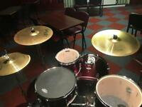 Pearl Forum Drum Kit + Brass Cymbals