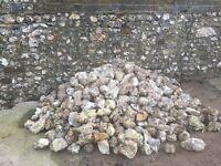 Dorset Field Flints for building walls