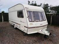 Abbey piper executive 14 4l ex 4 berth touring caravan cassette toilet bunk bed
