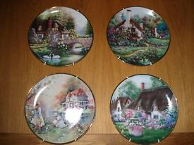 Franklin Mint 4 x Country Cottage plate collection