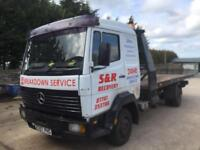 Mercedes 814 recovery truck with 21ft Flexi body