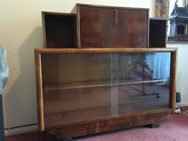 Sideboard with fold-down writing desk