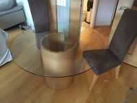 Glass table. Glass dining table. Glass coffee table. Wooden table. Glass wooden table. Round table