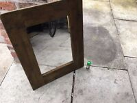 Mirror (great condition, no marks or cracks, nice wood border, spice jar for scale) £25 ono