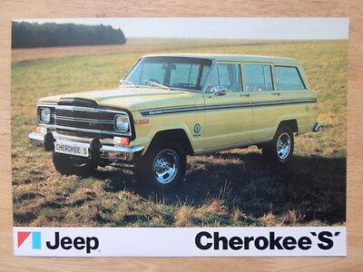 JEEP USA CHEROKEE S orig 1979 UK Mkt Sales Leaflet Brochure