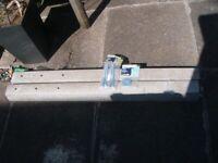 2 Concrete Repair Spurs + Coach Screws + Round Washers, Unused