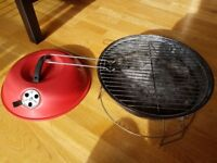 Charcoal portable round BBQ