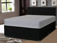 Starlight Beds - Small Double Memory Foam Mattress. Memory Foam Sprung Mattress. 4ft x 6ft3