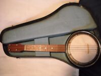 jetel lido deluxe banjo ukulele with hard case