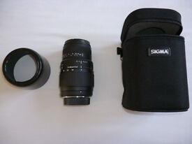 Sigma 70-300mm Nikon fit lens