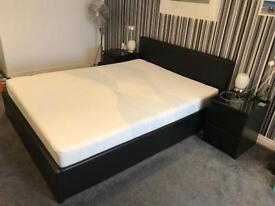 KING SIZE bed with under bed storage.