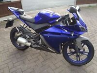 Rare Blue '13 Yamaha YZF R125 - great condition!