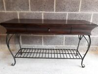 Victorian Style Wood + Metal Sideboard