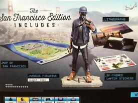 Watch Dogs 2 San Francisco Edition game and figurine for PlayStation 4 (PS4) brand new and sealed