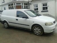 White Vauxhall Astra van