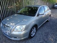 TOYOTA AVENSIS T3-X 1.8 PETROL 2005 5 DR HATCHBACK SILVER 76.000 MILES MOT 15/11/18 LOW MILES F/S/H