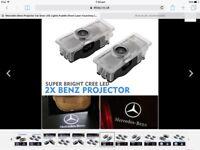 Mercedes Benz Projector Car Door LED Lights Puddle Ghost Laser Courstesy LOGO UK