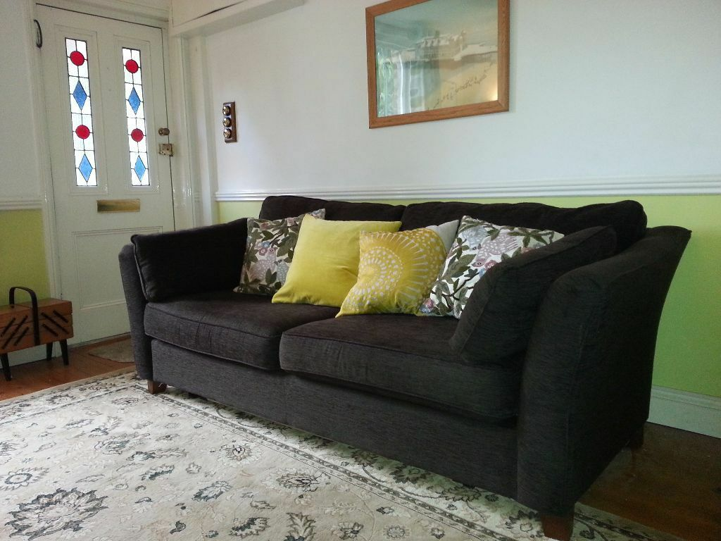 Marks And Spencer Living Room Furniture Large Marks Spencer Fenton Sofa Bed In A Dark Brown Fabric