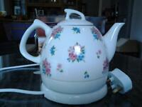 Porcelain electric kettle and teapot