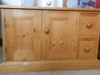 Pine storage unit for stereo/CD/DVD/TV