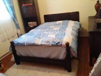 Antique double bed.