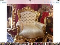 Reduced Fabulous French rococo styl e gold chair