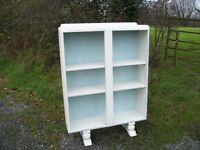 Vintage Painted Shabby Chic Retro Bookcase Shelves. Adjustable. LEWES COLLECTION
