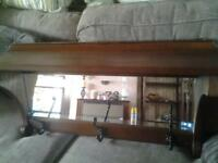 Old Charm coat rack and mirror