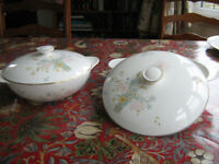 Royal Doulton Flirtation 2 serving dishes with lids