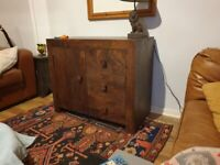 Solid wood sideboard / cabinet from next