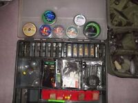 CARP TACKLE FOX BOX AND NASH LEAD BAG 60 PLUS LEADS