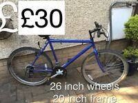 Gents Mountain Bikes from £30 - £50 Gents or boys hardtail mountain bike male