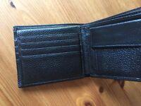 RFID blocking men's leather wallet
