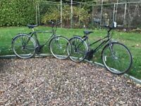 A matching pair of Raleigh Pioneer Jaguar Bicycles ~ One for a Lady & another for a Gentleman.