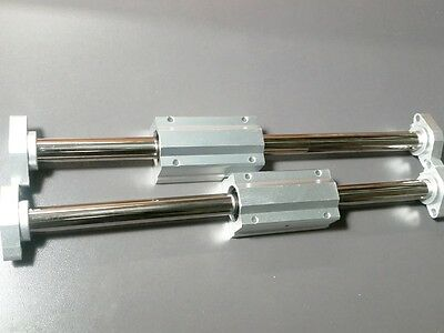 2 X 20mm 20 Hardened Shafts 2 Long Linear Blocks Scs20luu Rail Bearing Motion