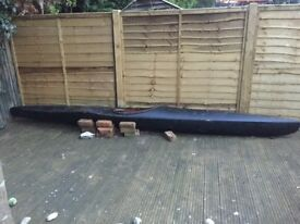 Vintage 3.6m Kayack + 2 part Paddles