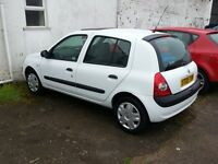 RENAULT CLIO 1.5 DCI WHITE Low miles £30 per tax