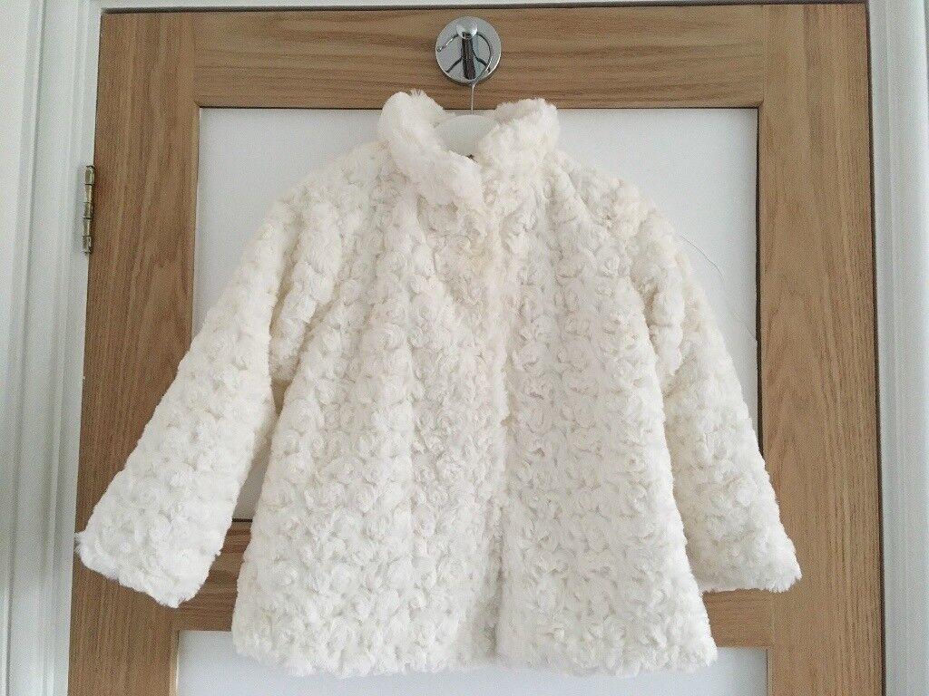 8bf746a99009 Baby girls white winter coat