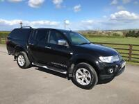 Mitsubishi l200 warrior double cab 178bhp 4x4, 2011 (11) reg, 1 former keeper, tested, fsh, in black