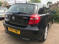 2007 BMW 1 SERIES 118D DIESEL BLACK QUICKSALE