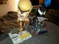 Marvel Sabretooth and Venom bobble buddies