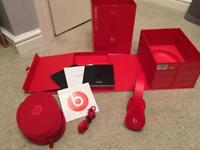 Beats Red Edition Solo HD wired headphones. Boxed
