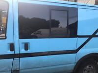Transit mk6 side loading door with sliding window ideal camper project