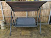 3 Seater Garden Swing Seat with Canopy & Rain Cover