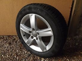 """16"""" 5 spoke alloy wheels with Continental Contact 205/55 R16 all weather tyres excellent condition"""