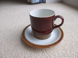 Poole pottery cups and saucers