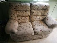 Very high quality and heavy two seater sofa