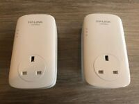 2x TP-Link 1200mbps Powerline Network Adapters
