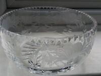 Cut glass salad.fruit bowl